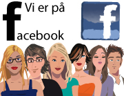 Vi er p� facebook